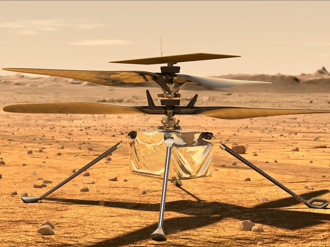 Mars Helikopteri Tarihi İlk Uçuşunu Yaptı…