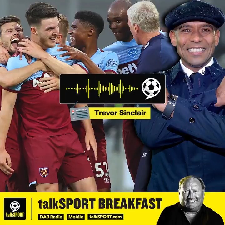 """😲 """"West Ham have a good chance to get Europa League."""" 💪 """"With Moyes at the helm from the start, a preseason, recruitment..."""" 🙏 """"The way they finished last season, I think they can get top 7."""" @Trevor8Sinclair is confident #WHUFC are set for a great season ⚒ Agree? 🤔"""