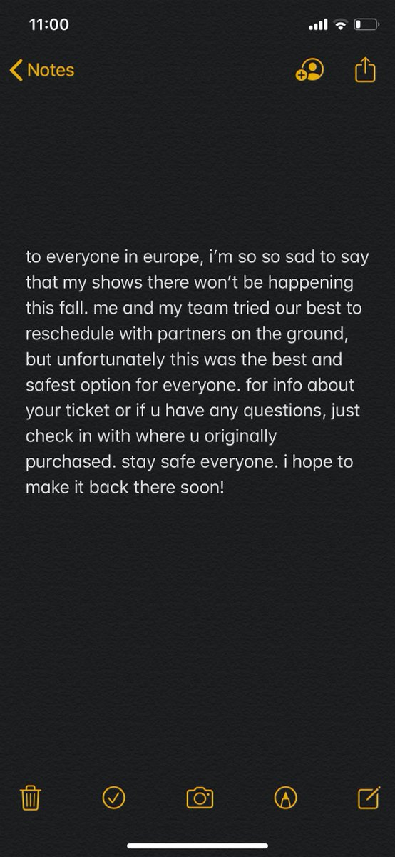 a message to europe