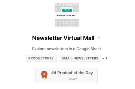 4th on Product Hunt Screenshot