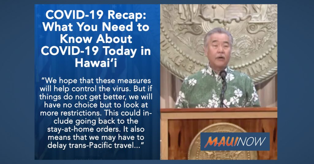 COVID-19 Recap: What You Need to Know About COVID-19 Today in Hawai'i https://t.co/eh2d6tSNFq https://t.co/bfrBlUkeac