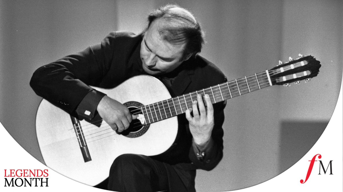 Well be taking a moment in tonights Classic FM Concert to honour one of the greatest classical guitarists of the 20th century, Julian Bream, who has died aged 87: clssicfm.co/3aobxD7 Hear Bream performing Joaquin Rodrigos Fantasía para un Gentilhombre just after 9.30pm.