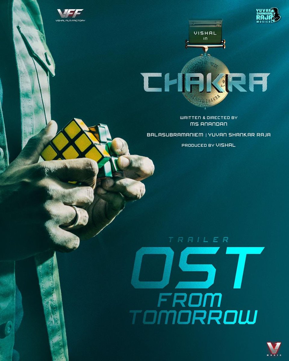 """ OST from tomorrow ""  #WelcomeToDigitalINDIA   #Chakra #ChakraOST  @VishalKOfficial @ReginaCassandra @ShraddhaSrinath @thisisysr @manobalam @srushtiDange @AnandanMS15 https://t.co/OPaY2v1Q1X"