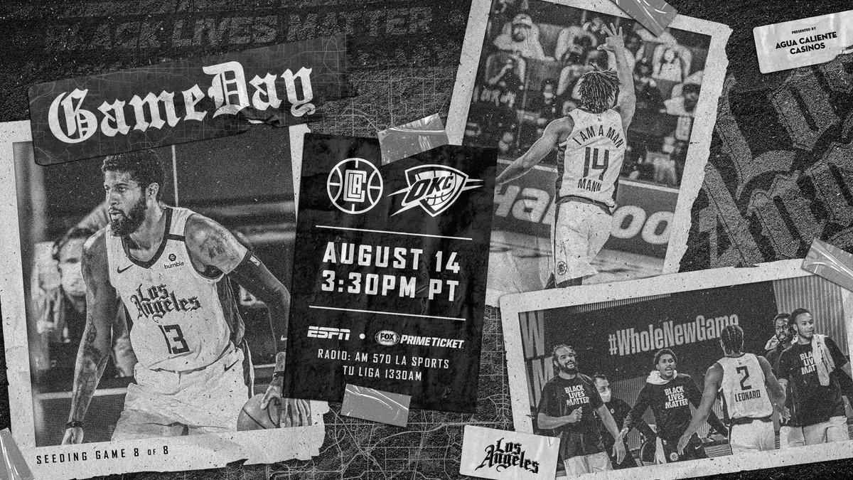 Final seeding game on deck.  🕞 3:30PM/pt 📺 @FoxSportsWest, @ESPNNBA 📻 @AM570LASports, @TuLigaRadio https://t.co/wIbmBMo5Ji
