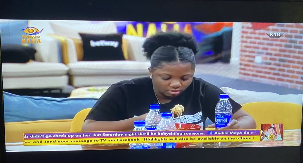 Lucy thank you for feeding my baby Dorathy 😍 she said it's 10/10 👌 #BBNaija #BetwayFriday