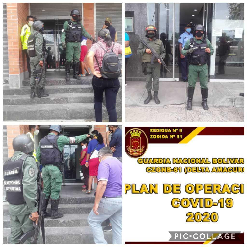 #14Ago El .@GNB_DESUR61 efectuó patrullaje de Seguridad Bancaria brindando seguridad y hacer del conocimiento las medidas preventivas en contra del #Covid_19 #FANB GNByPuebloSolidario #HastaLaVictoriaSiempreDarío .@GNBoficialVE .@FabioZavarsep .@GNBGDJFL https://t.co/ZZ06z87GjW