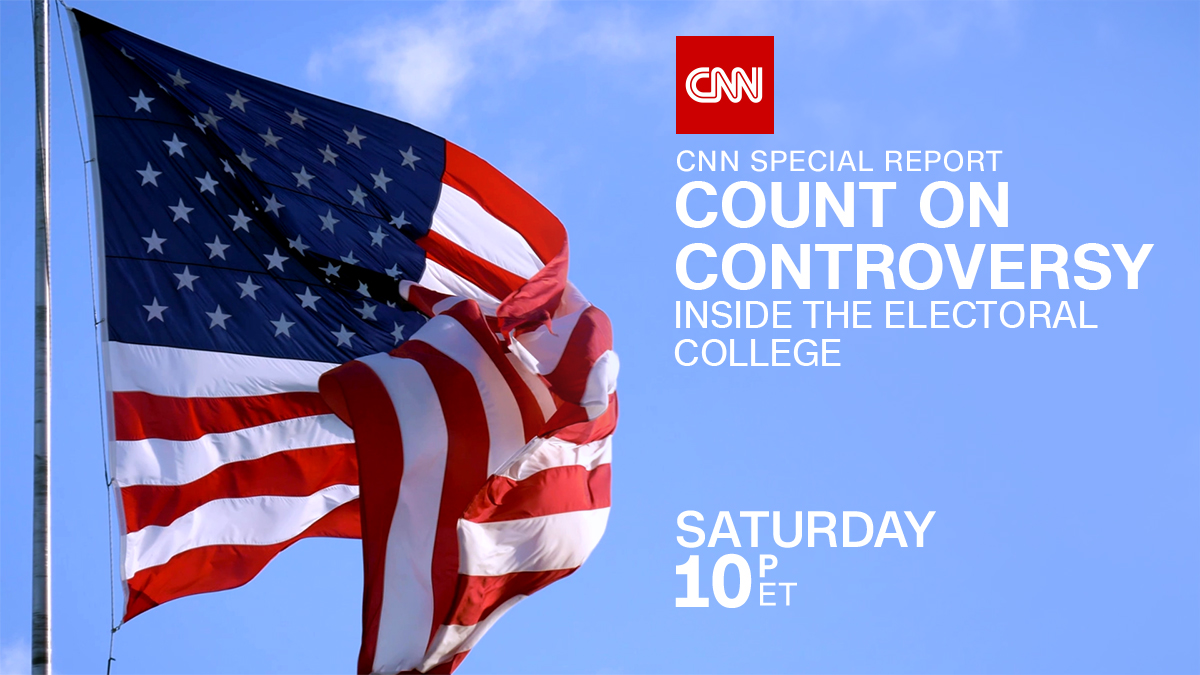 Join @JohnBerman for a look at the Electoral College and your pick for President. CNN Special Report – Count on Controversy – Inside the Electoral College. Saturday at 10 p.m. ET