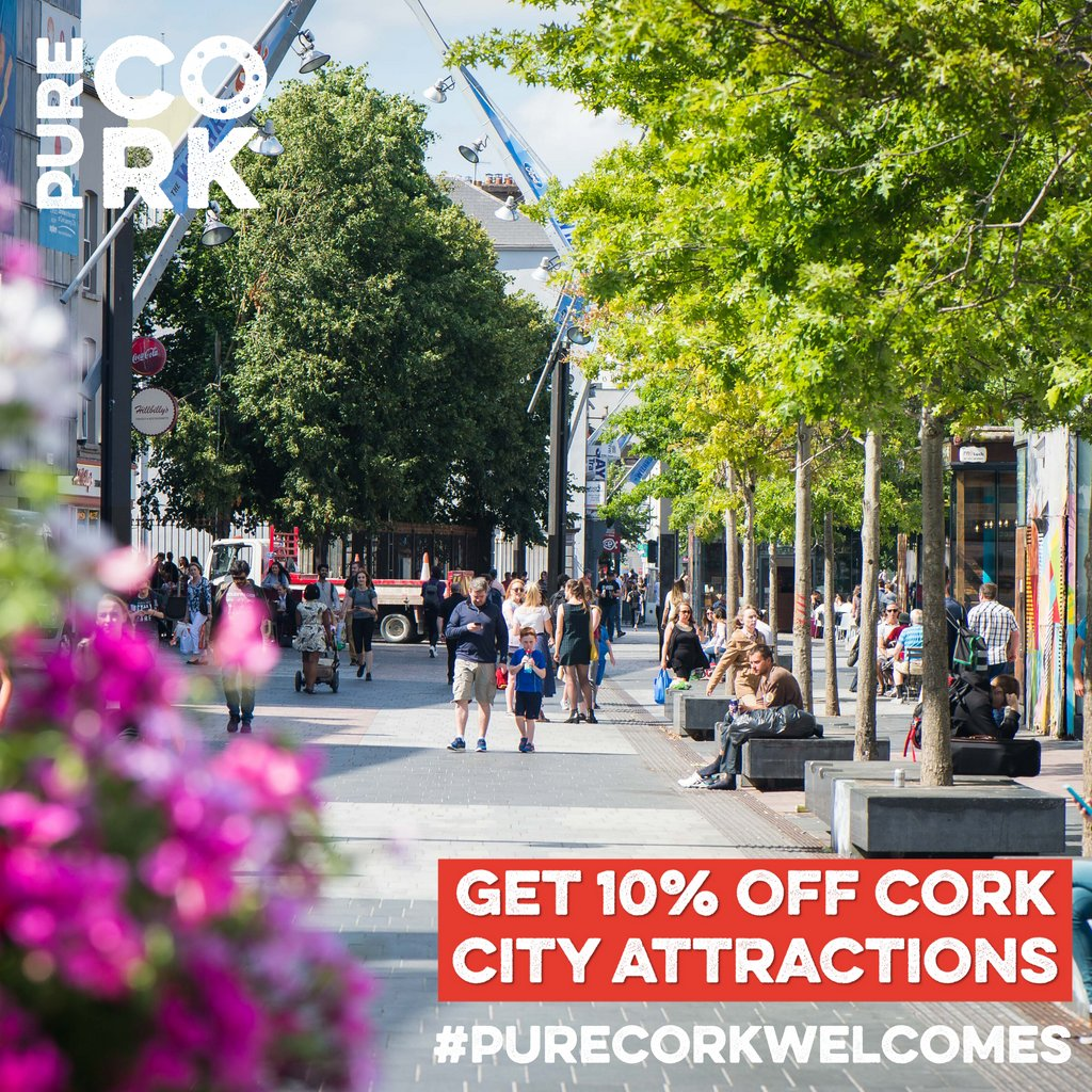 👩🎨Get 10% off Cork City's Attractions 👨🎤  🖼️Any plans for the weekend? Why not explore your city! Stop off in one of our city's fantastic attractions & receive 10% off all other participating attractions!   ℹ️https://t.co/7Z9ciA1quz  #PureCorkWelcomes  #MakeABreakForIt https://t.co/YJZCyx9mfa