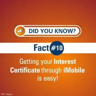 #DidYouKnow you can now get your interest certificate with ease through the iMobile app. Watch the video to learn how. #BankFromHome