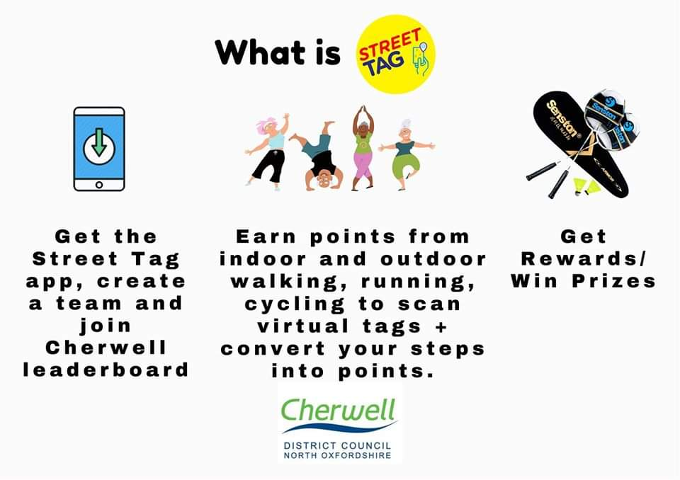 Now in #Banbury, #Bicester & #Kidlington : @streettaghq  We're delighted to play part in bringing this to @Cherwellcouncil and can't wait to download the app and have a go ourselves 🚶♀️🚶♂️ Get the app here: https://t.co/LLSPzA3V3B #FightingInactivity