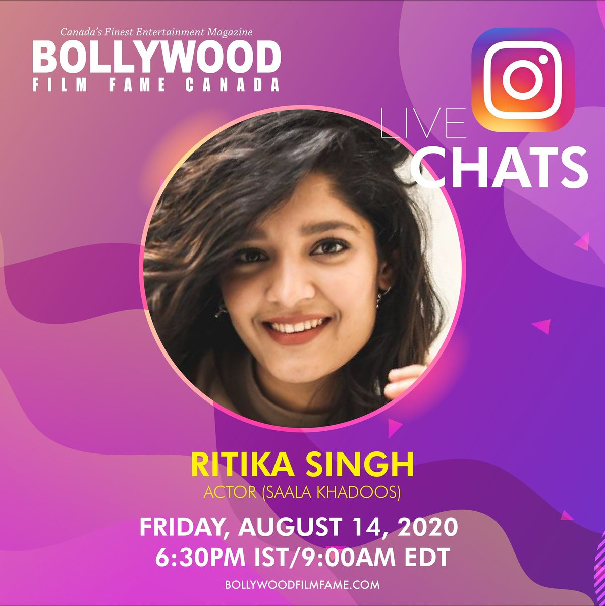 Super excited for our IG Live today with none other than @ritika_offl ! https://t.co/Ib8ujglPvN