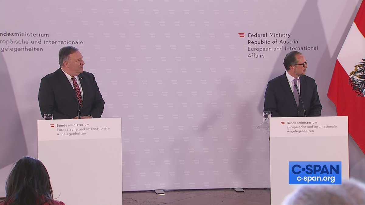 .@SecPompeo & Austrian Foreign Minister Joint News Conference - LIVE online here: cs.pn/3fUfkJC