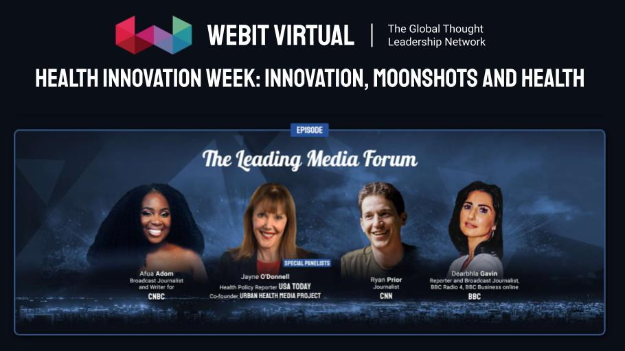 Watch the rewind of this special episode of #Webit Virtual The Leading Media Forum: Health Innovation Week with  @afuathescot  @JayneODonnell @r_prior @DearbhlaGavin hosted by  Dr. @PlamenRussev.   Watch here:  https://t.co/sPmHw8hsxY https://t.co/zPg5r8v0bM