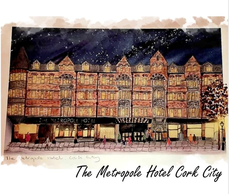This vibrant illustration of @MetropoleCork was received from the talented Cork Artist Fiona Foley of Pear Shaped Studio. It captures the impressive facade of the iconic hotel on the @The_VQ_Cork @RogerR1009 @CaseyMcSween @greaves_ria @ConciergeCJohn #corkcity #themetropolehotel https://t.co/sOzbaBHxOG