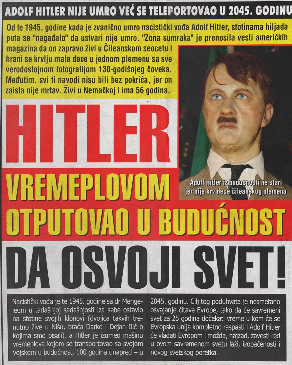 Hitler nije umro već otputovao u budućnost da osvoji svet!!! (FOTO)
