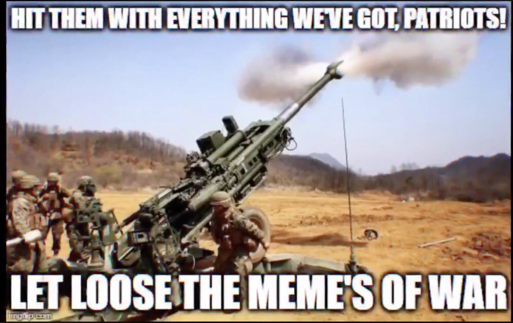 Meme Warfare @cbrnetaskforce @theR_Man_ @KatherineWendt @Rickster_75 @MaysPatriot @Sheerglee1 @fatima_italia @BEEFEATERRRR @OohCharlie__ @ckitty33forkag @HarrellRyan1 @JustaGina @AlkireMike @j_ankrom @Go_USC_Gamecock @ContiTonight @Char74able @Sheerglee1 @CBRNVeteran @Pal3Z