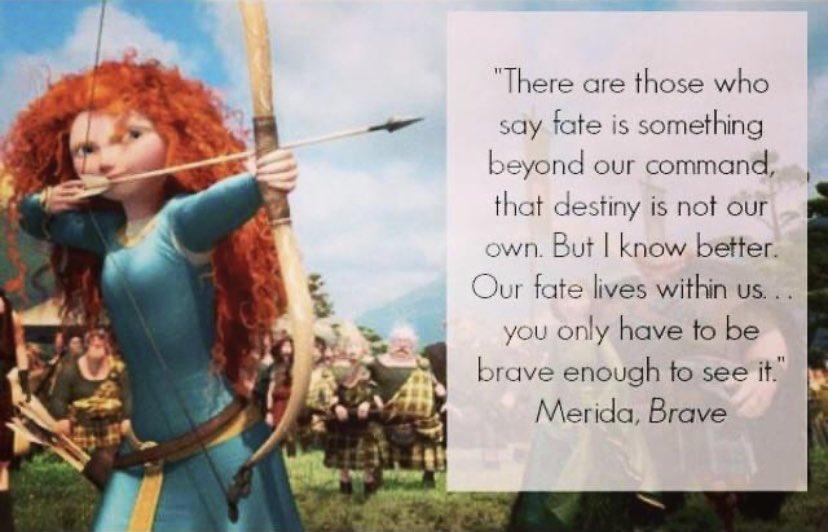 One of the many reasons we love Merida! #thedisneynerds #thedisneynerdspodcast #disneynerdspodcast #disneynerds #merida #meridaquote #disneybrave #disney #disneyquotes