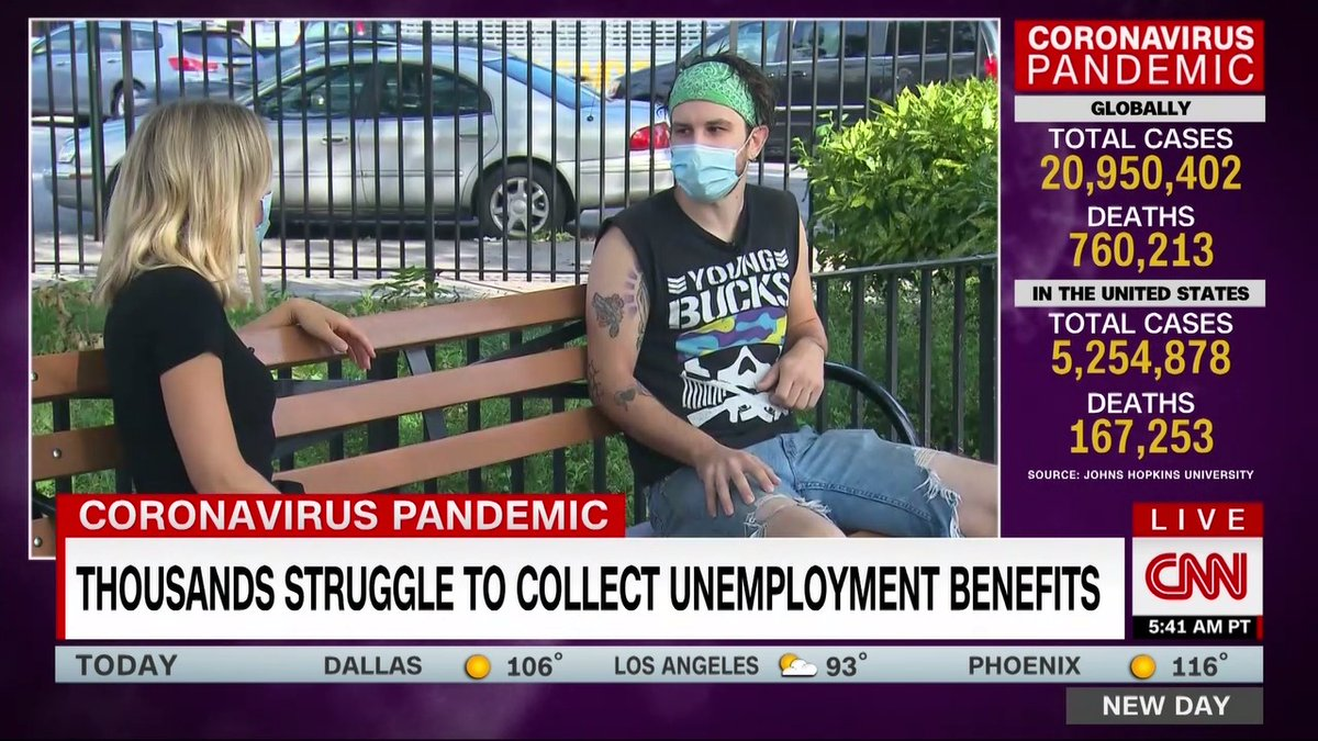 After losing his job in Washington, DC, Daniel Vought waited for unemployment benefits for over four months. When a debit card finally arrived with the funds, the damage was done. He says he got evicted after not making rent and now lives with his dad in the Bronx.
