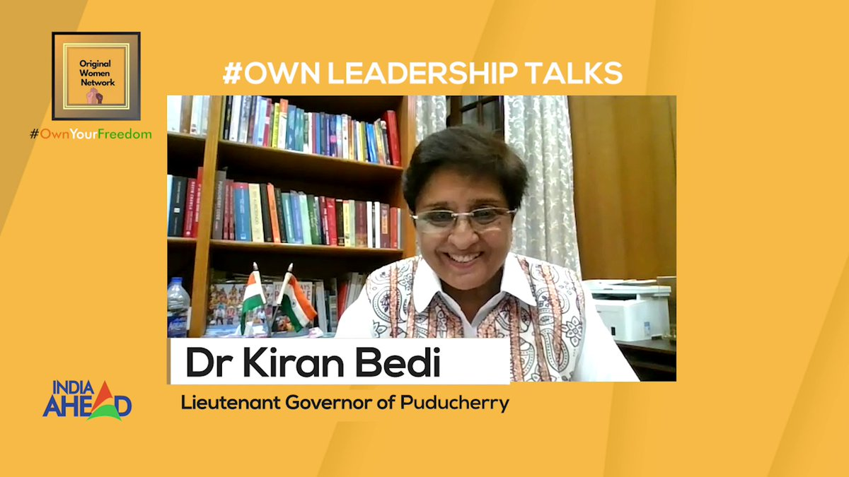 On #IndependenceDay, hear one of the most inspirational stories on India Ahead in an exclusive interview with Puducherrys Lt. Governor @thekiranbedi, brought to you by @WomenOriginal Do tune in at 2:30 pm today & 5 pm tomorrow. #OwnIt #WomenPower