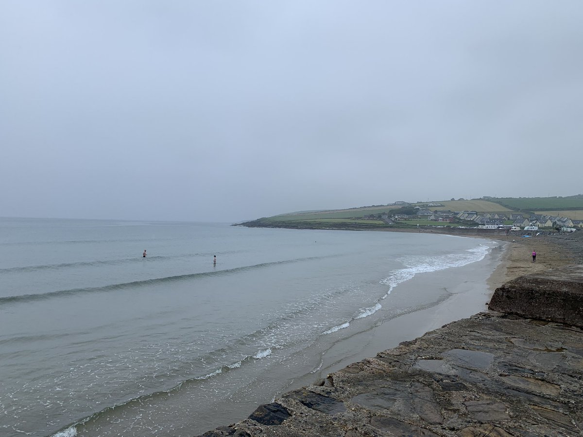 A @pure_cork overcast morning at #Garrestown beach🏄🏼♂️loads of people out for their morning swim 🏊♀️ and so nice to see, it doesn't bother them. Such a lovely lovely area at any time of year  #Ballinspittle, #Ballinadee, #Kinsale #PureCorkWelcomes https://t.co/fiBL7MY3lq