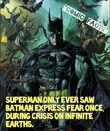 *Comic Facts* Superman only ever saw Batman express fear once, during crisis on infinite earths. #comicfacts #dccomics #comicbooks #dc #Batman #Superman #facts #fun #nerd #comics #dceu #crisisoninfiniteearths #crisis https://t.co/BVAr7BTK1E