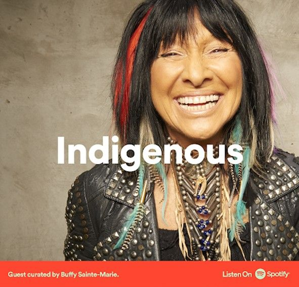 I am honoured to be included in @BuffySteMarie's @SpotifyCanada playlist amongst many other incredible musicians. And you can catch me this evening on the virtual stage with Buffy at the @FolkPhilly. Get your tickets here: https://t.co/LyDOzdJHNF  #PFF59 #buffysaintemarie https://t.co/sb026CG304