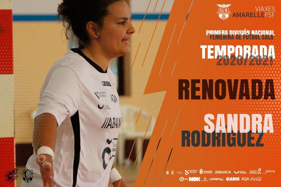 La portera lucense Sandra Rodríguez firma para iniciar su quinta temporada en el primer equipo del Viaxes Amarelle FSF