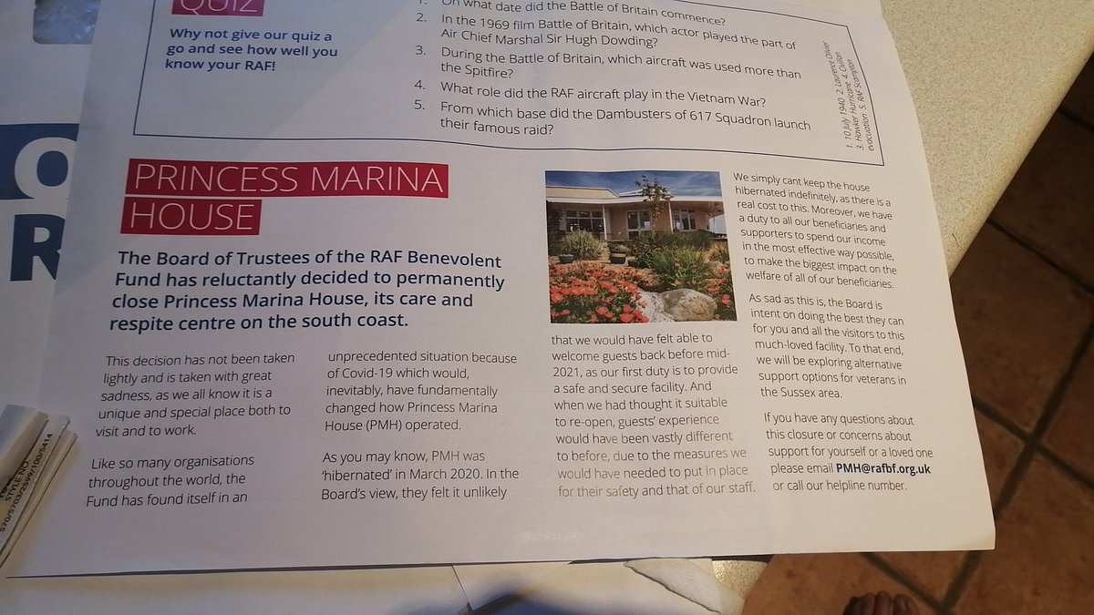 Absolutely devastating to read of @RAFBF Princess Marina House has had to close as a result of Covid19. A true loss to current and ex serving members of the forces. Such a shame, but hopefully the reluctant closure offers great scope to further support in other precious means. https://t.co/bhVepTjTlP