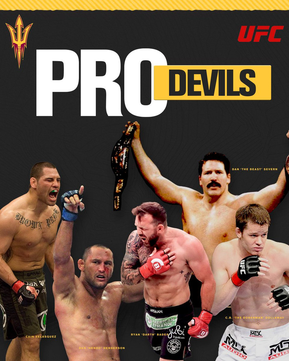 1️⃣6️⃣ Sun Devils made the jump to professional MMA 🥊 Who is your favorite Pro Devil?