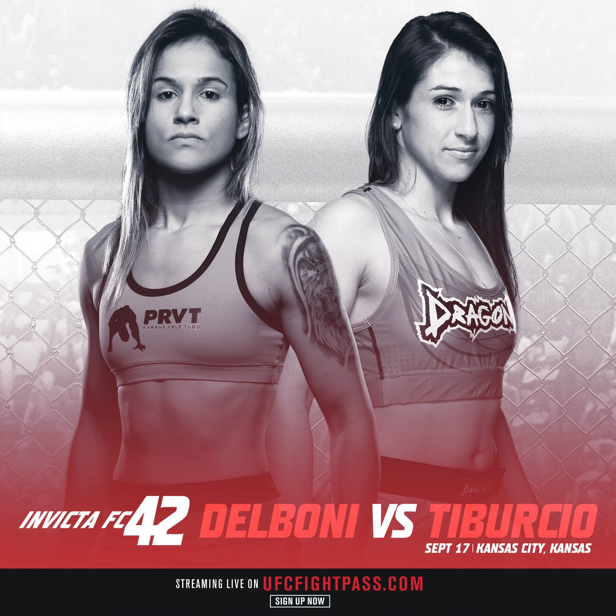 Brazilian veteran Jéssica Delboni faces former atomweight champion @Herica_tiburcio in a strawweight match-up at #InvictaFC42! https://t.co/1eYRW5NgSy