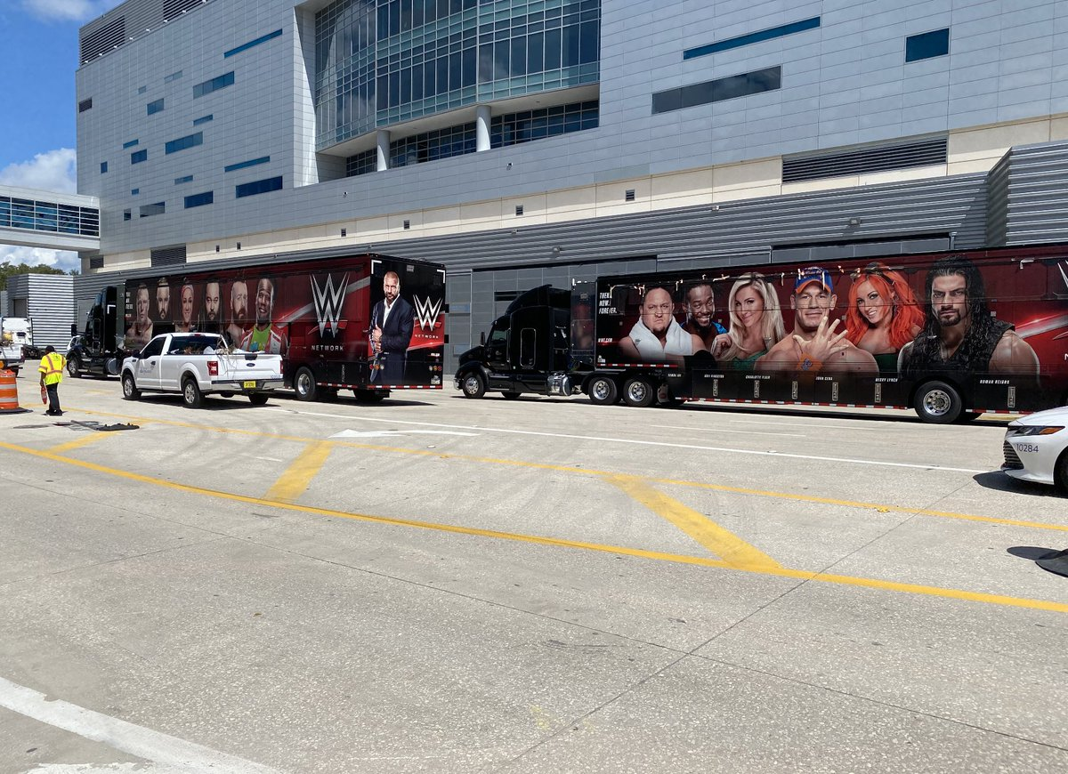 WWE Trucks Arrive At The Amway Center In Orlando, More On WWE Airing Live TV From The Arena (Video)