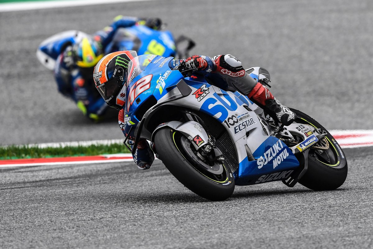 TEAM SUZUKI ECSTAR UP FRONT AS AUSTRIAN ACTION BEGINS Austria's Red Bull Ring saw thunder storms and rain rolling round the mountains, making for a more intense start to the weekend than usual: suzuki-racing.com/motogp/TEAM-SU… @Rins42 @JoanMirOfficial @suzukimotogp @MotoGP