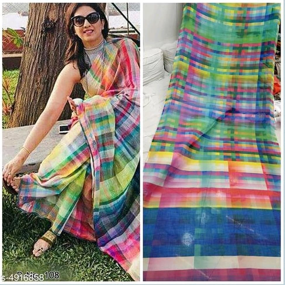 Linen Colorful Saree ¦¦ Rs. 899/- ¦¦ Free delivery ¦¦ COD available ¦¦ DM to order ¦¦ Follow for more collections & offers #saree #sareelove https://t.co/7uKFJc5nHw