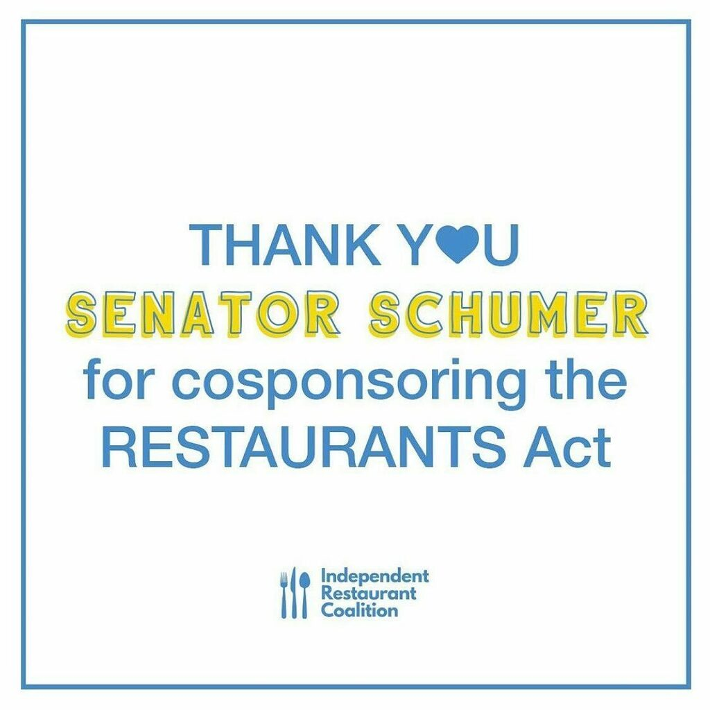 ❤️ 🙏  Repost from @bobbystuckeyms • Every morning since March 17th a group of restaurant people have worked to save our industry. Today was a huge step forward. Thank you @chuckschumer for your leadership. With your support, the RESTAURANTS Act will … https://t.co/keOluOdVhX https://t.co/VtNb55NGs2