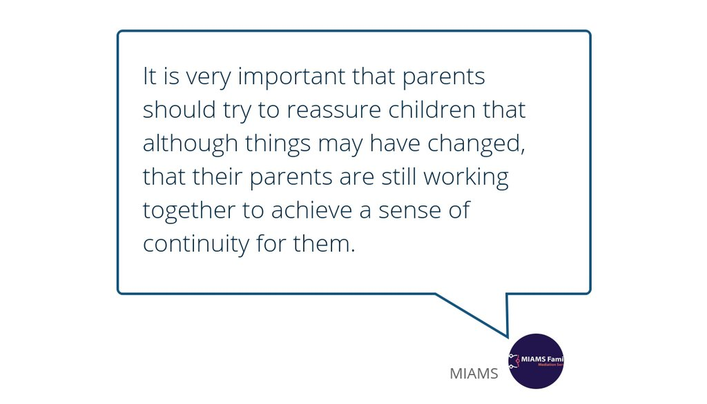 Talk to the children together, when both parties are parents.  Read the full article: Parents Family Mediation Services ▸ https://t.co/AXspQBdwsN  #MaintainingChildrensFriendships #ChangeLivingArrangements #ChildrensBedtimeRoutines https://t.co/URhoonKWou