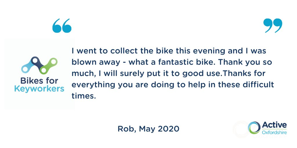 #BikesForKeyworkers Update: We're working towards donating 300 bikes &  providing bike maintenance & training. We are still running our fundraising appeal so if you are able to donate that would be greatly appreciated: https://t.co/38Mmx7q6tD @WeAreCyclingUK @BritishCycling