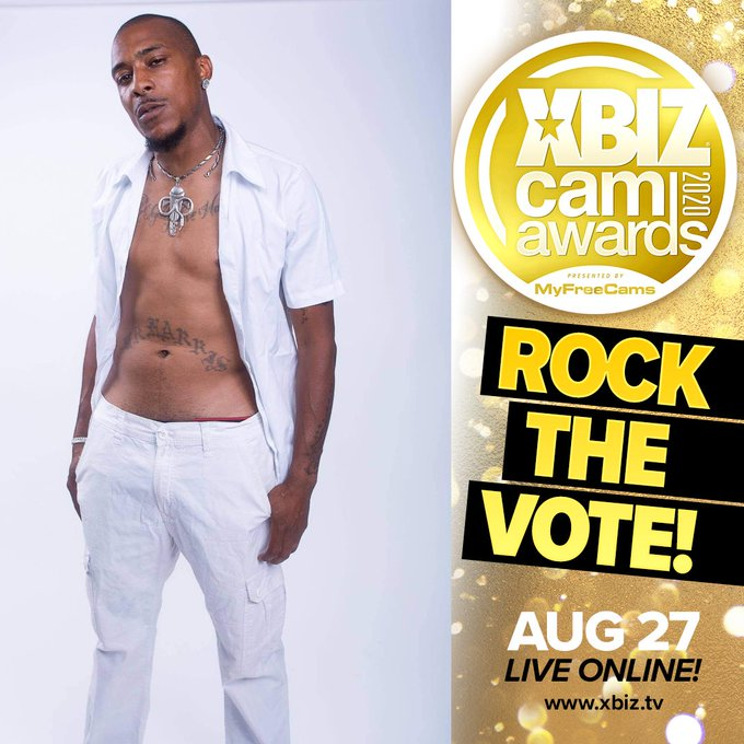I just rocked the vote for @alphonsolayz for 2020 @XBIZ CAM Awards presented by @MyFreeCams https://t