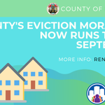 Image for the Tweet beginning: L.A. County's eviction protections are
