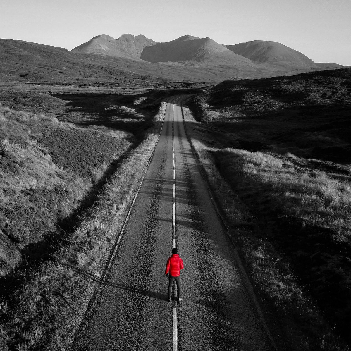 Yours truly posing on the road to An Teallach with my trusty DJI Phantom 4 Pro obsidian drone #thisismyadventure #droneselfies #drone #dji #phantom4pro @DJIGlobal