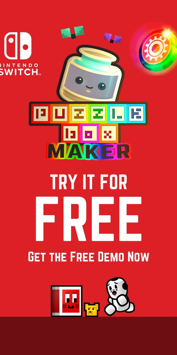 Puzzle Box Maker makes more out of your creativity! It is now available on Nintendo Switch eShop for only 14.99 ❤️🌈🖼🎮 https://t.co/tRZBvhaIfn #indiedev #gamedev #ITRTG #Nindie #madewithunity #NintendoLife #PixelArt #8bitart #familygames #creativity #multiplayer #retro #colors https://t.co/9NvGaU7bZc