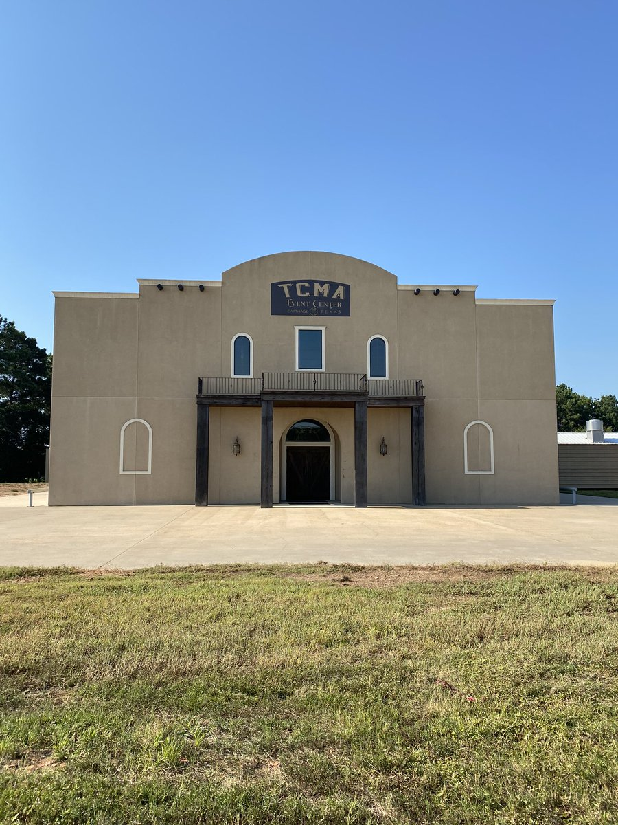 The new TCMA Event Center in Carthage TX! Live music coming! Follow at facebook.com/tcmaeventcenter