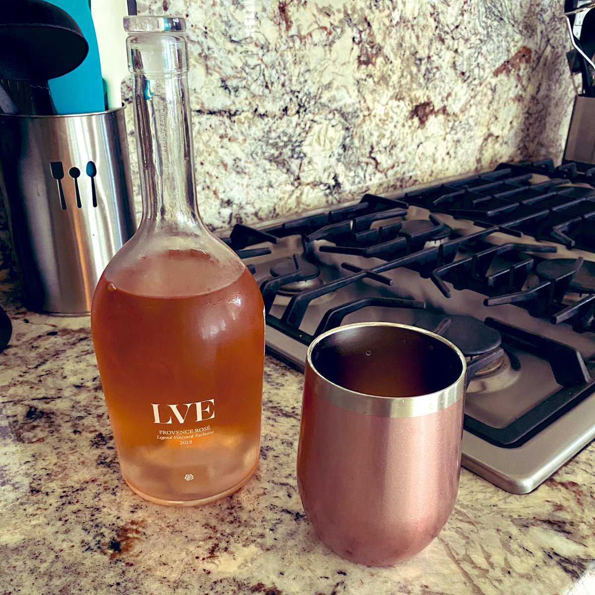 Serrated santoku knife by @cravings @chrissyteigen just came back into stock at Target - ordered and on its way - and now enjoying a glass of rosé by @LVE_wines @johnlegend ... Feeling like a successful evening!