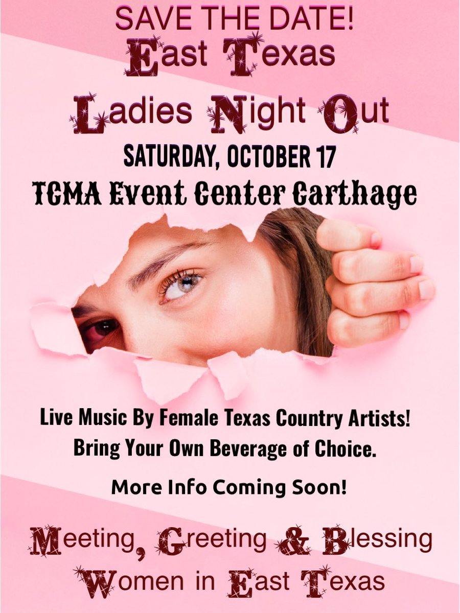 October 17! This is gonna be fun! Follow Facebook.com/tcmaeventcenter for updates!