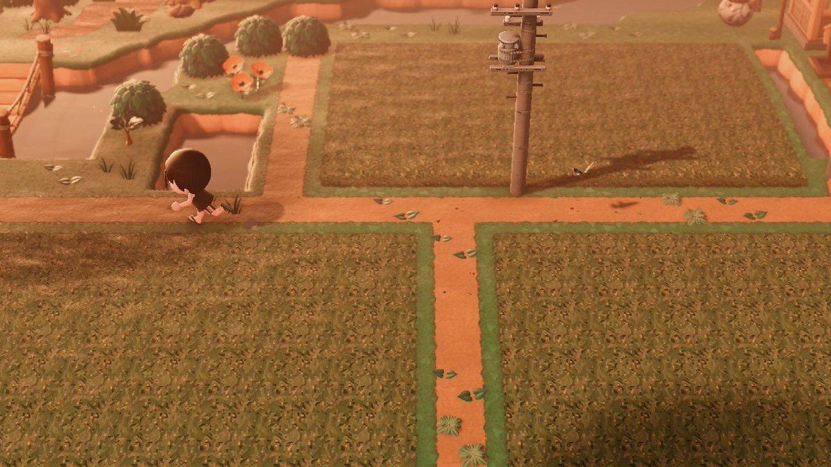 田んぼの稲も伸びました〜🌾水が無いと難しすぎる…もうリアルとかではなくモザイク画。拡大してはだめです…笑一応投稿してあります〜(8877-8483-6699)#どうぶつの森 #マイデザイン