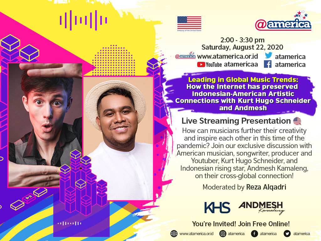 I am so HONORED to announce I'll be hanging out with @AndmeshKamaleng tonight at @atamerica event to talk about music, creativity, and more fun stuff! We're going live at 12:00am PST (5 hours from now) / 14:00-15:30pm WIB. Join us for free here: https://t.co/xOM1XVIROr https://t.co/moKMvxRPFo