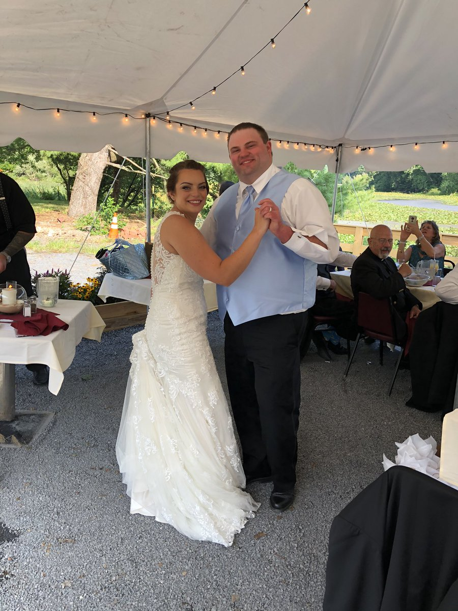 Today I gained a son. My daughter married the love of her life. Many years of love & joy to you both. The pandemic can't stop us!🎂🥂 https://t.co/osL5nj0MPL