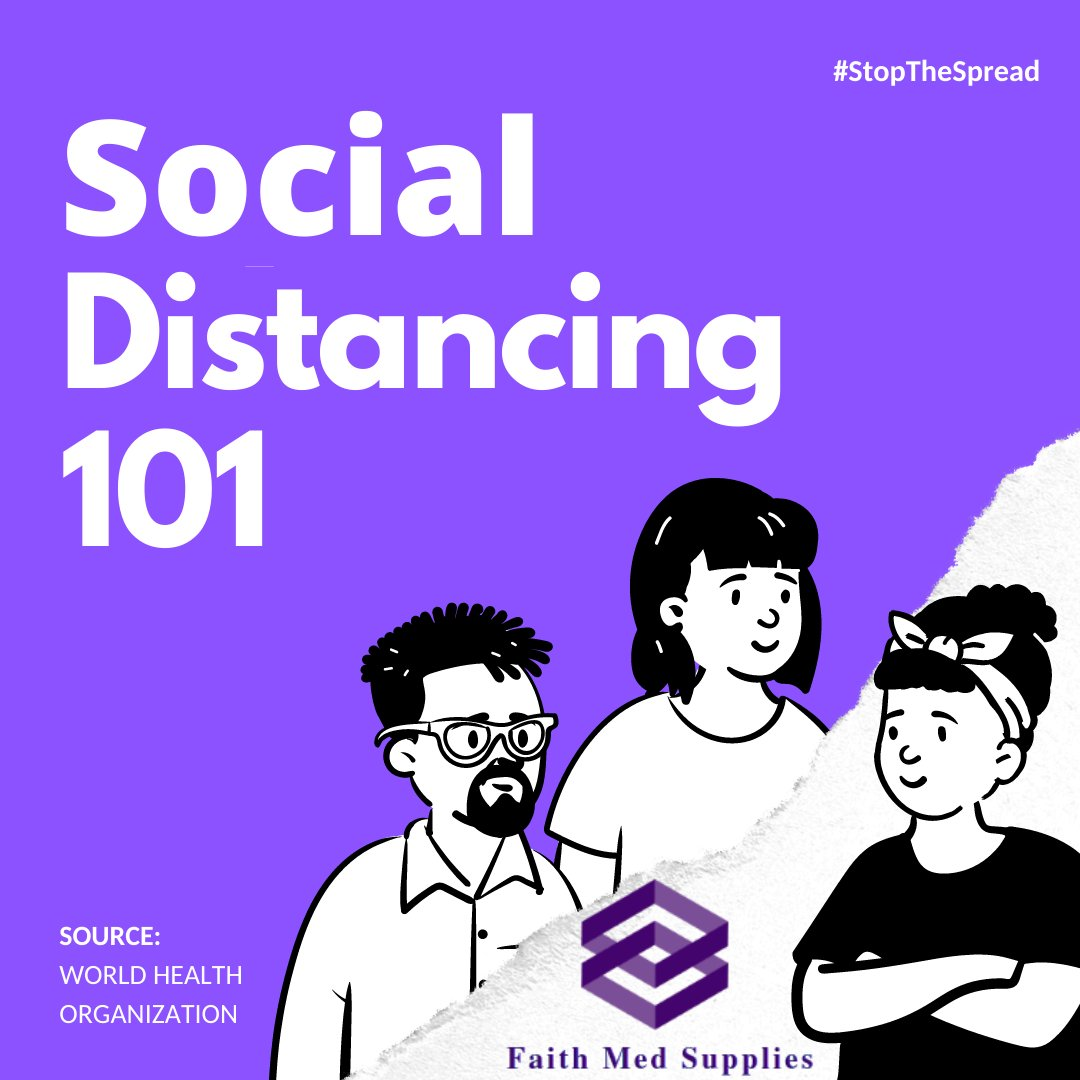 Here is an easy to understand Social Distancing 101 presentation. Check every image to know the social distancing guideline published by - #WHO  For Masks - https://t.co/5lgpBCzXgE . #physicaldistancing #socialdistance #covid19 #corona #coronavirus #covid #faithmedsupplies #USA https://t.co/wqQzyfRvGB