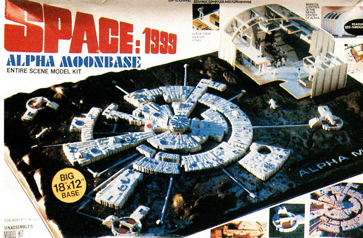 Space 1999 (1975-1977): Alpha Moonbase, 1/3200 commercial (old) model kit by MPC.