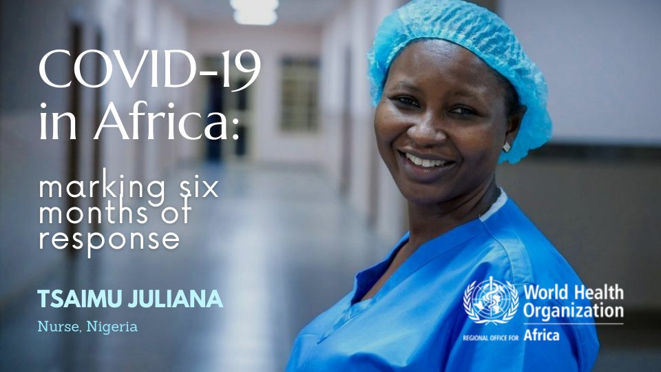 6 months ago, Africa confirmed its first case of #COVID19. Since then, there have been 1 million cases, affecting every country on the continent.  From nurses to virologists, meet some of the health heroes leading Africa's pandemic response: https://t.co/vEzXwkXbPf via @WHOAFRO https://t.co/34nEZvU5em