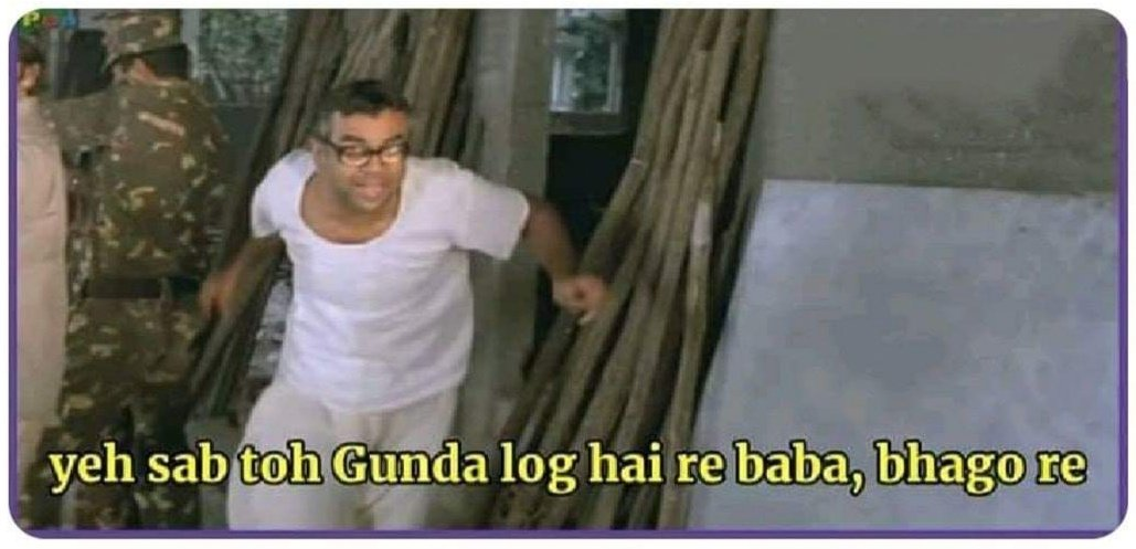 Barca after 5th goal by bayern....🤣🤣  (Let's run...these are all bad people )  #UCL #uefa  #BarcelonaBayern #indiantweet #memesdaily https://t.co/OGVqKI8UMm
